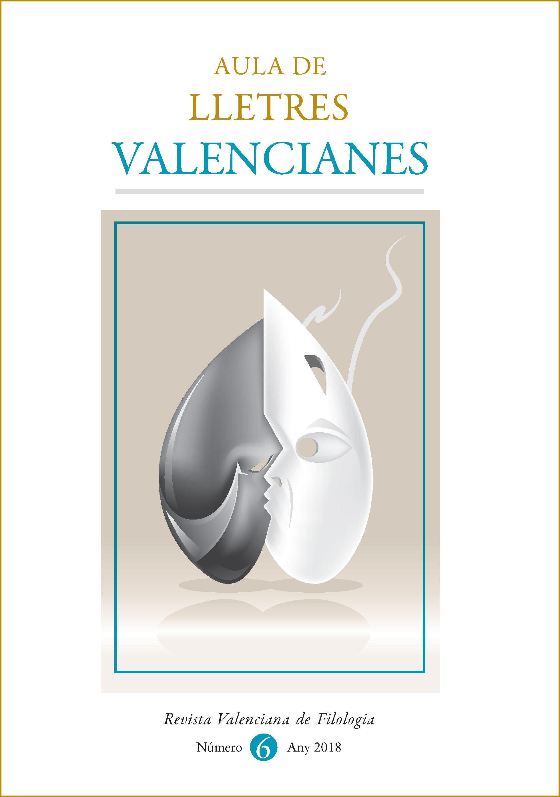 Portada de la revista 'Aula de Lletres Valencianes. Revista Valenciana de Filologia'