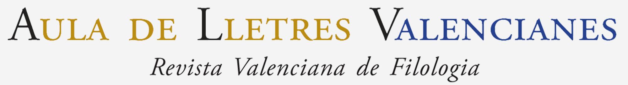 Aula de Lletres Valencianes - Revista Valenciana de Filologia